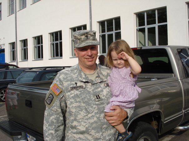 Me with Heidi minutes before reporting for deployment. — with Heidi.