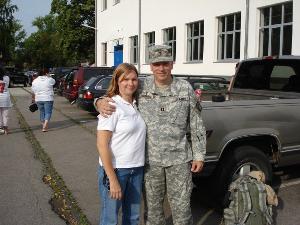 Me with Holly minutes before reporting for deployment. — with Holly Parr Densford.