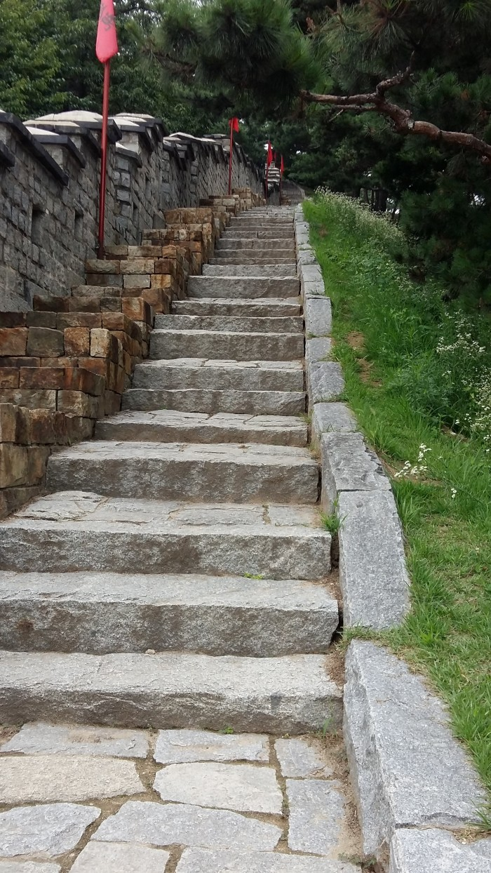 Many, many stairs!