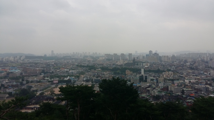 From SeoJangdae there were great views of Suwon city below.