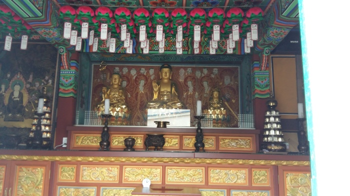 Here's the inside of the temple.