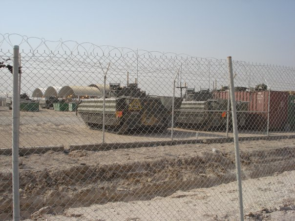 Basrah British armored vehicles
