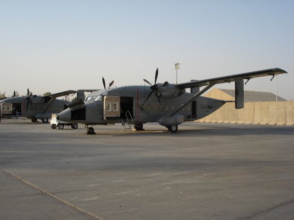 The C-23 Sherpa that I often fly on.