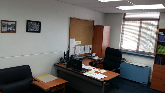 Brigade UMT office-chaplain's desk
