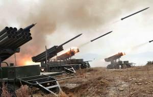 North Korean Artillery Fire