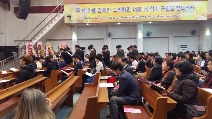 The district superintendent recognized and prayed for the ministers receiving the District Minister's LIcenses.