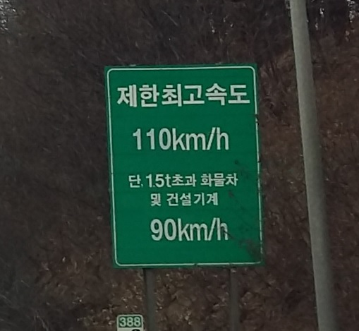 I assume this is a maximum and minimum speed limit sign, thinking wight has something to do with it...