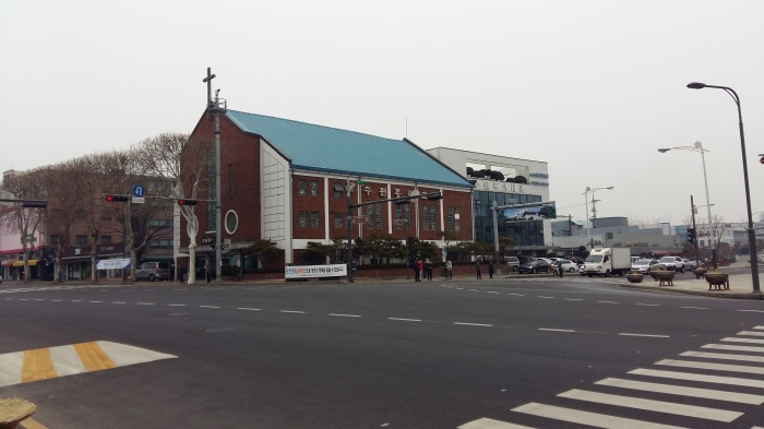 A Christian church in Pyeongtaek.