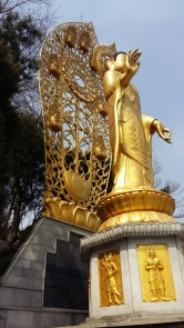 The Buddha at a Buddhist Temple in Suwon.