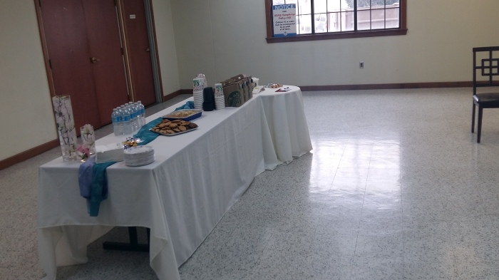 The FRG set up a hospitality room for the father and close friends.