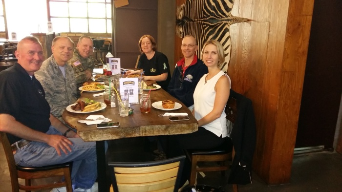 """Our group enjoying lunch at Braai Republic in """"The Ville."""""""