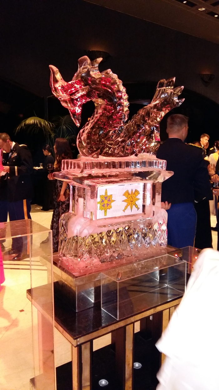 Red Dragon ice sculpture