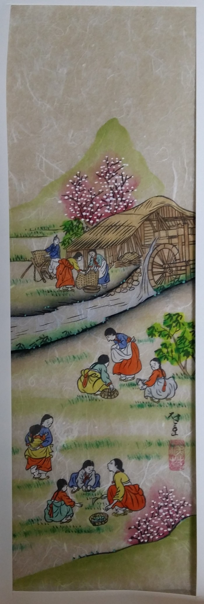 Korean art on rice paper