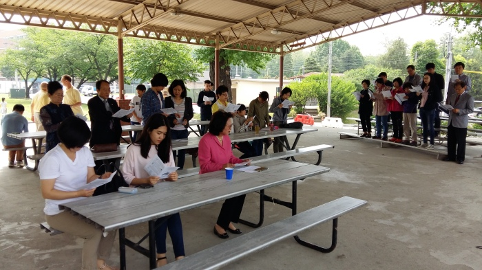 Yongsan Traditional Protestant Service picnic
