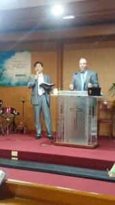 Chaplain Densford preaching
