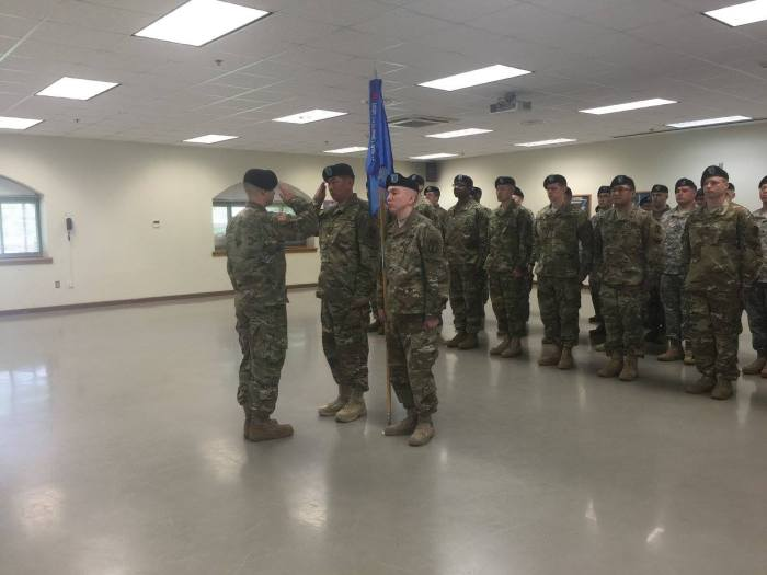 B-Co Change of Command